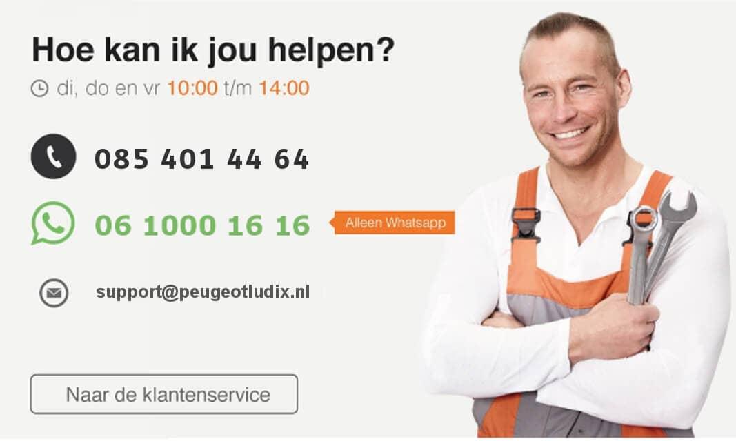Ervaring klantenservice Peugeotludix.nl