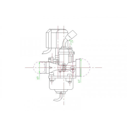 Sproeier Peugeot Ludix - Dellorto - Verschillende maten